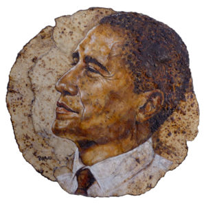 Tortilla Art: A Time For Hope (Barack Obama Portrait)