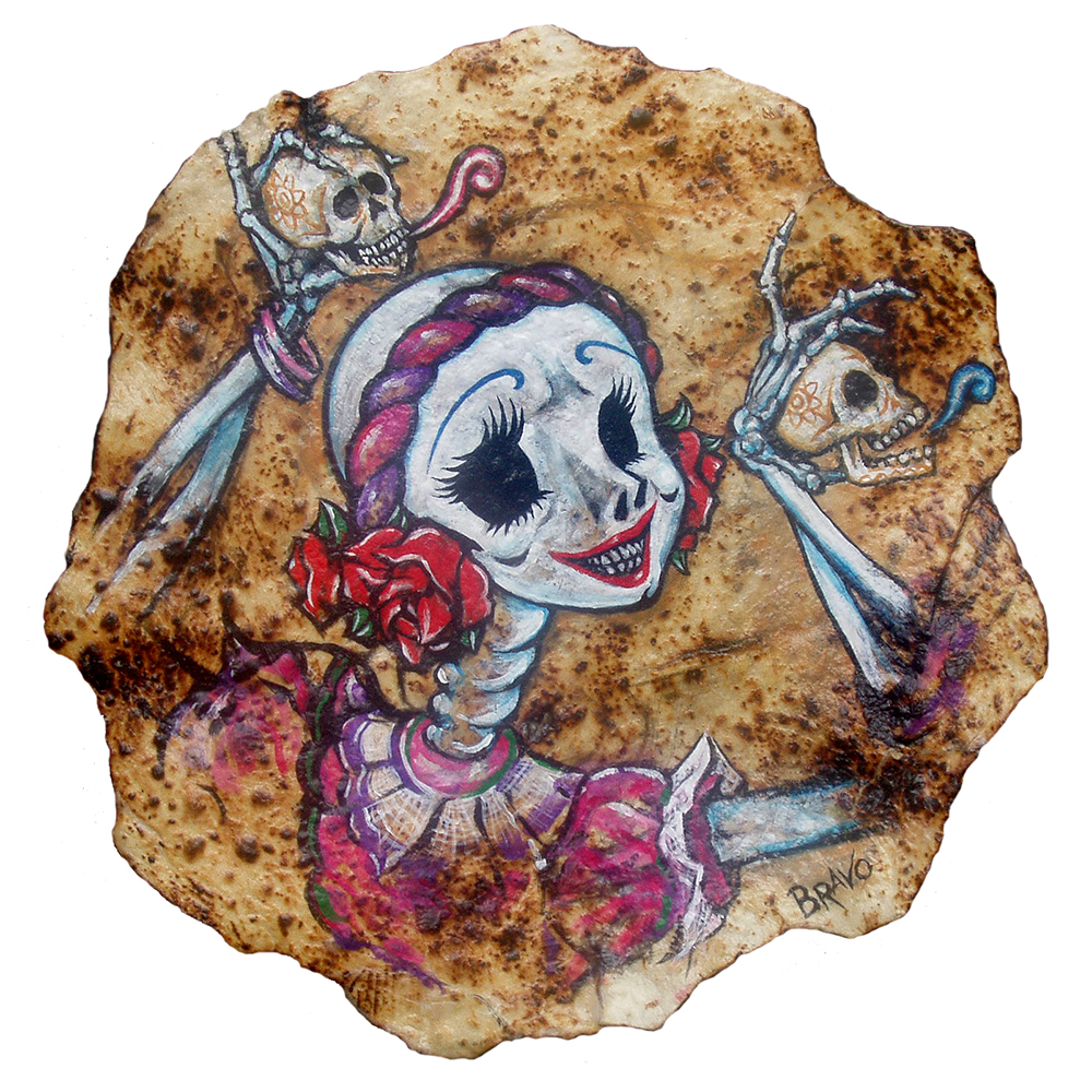 Tortilla Art: Calacañdo by Joe Bravo