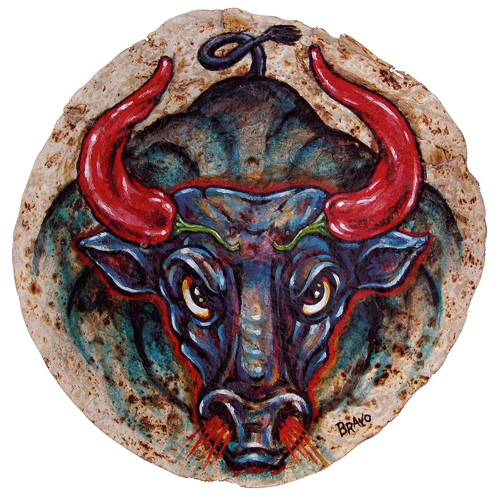 Tortilla Art: Chile Con Carne by Joe Bravo
