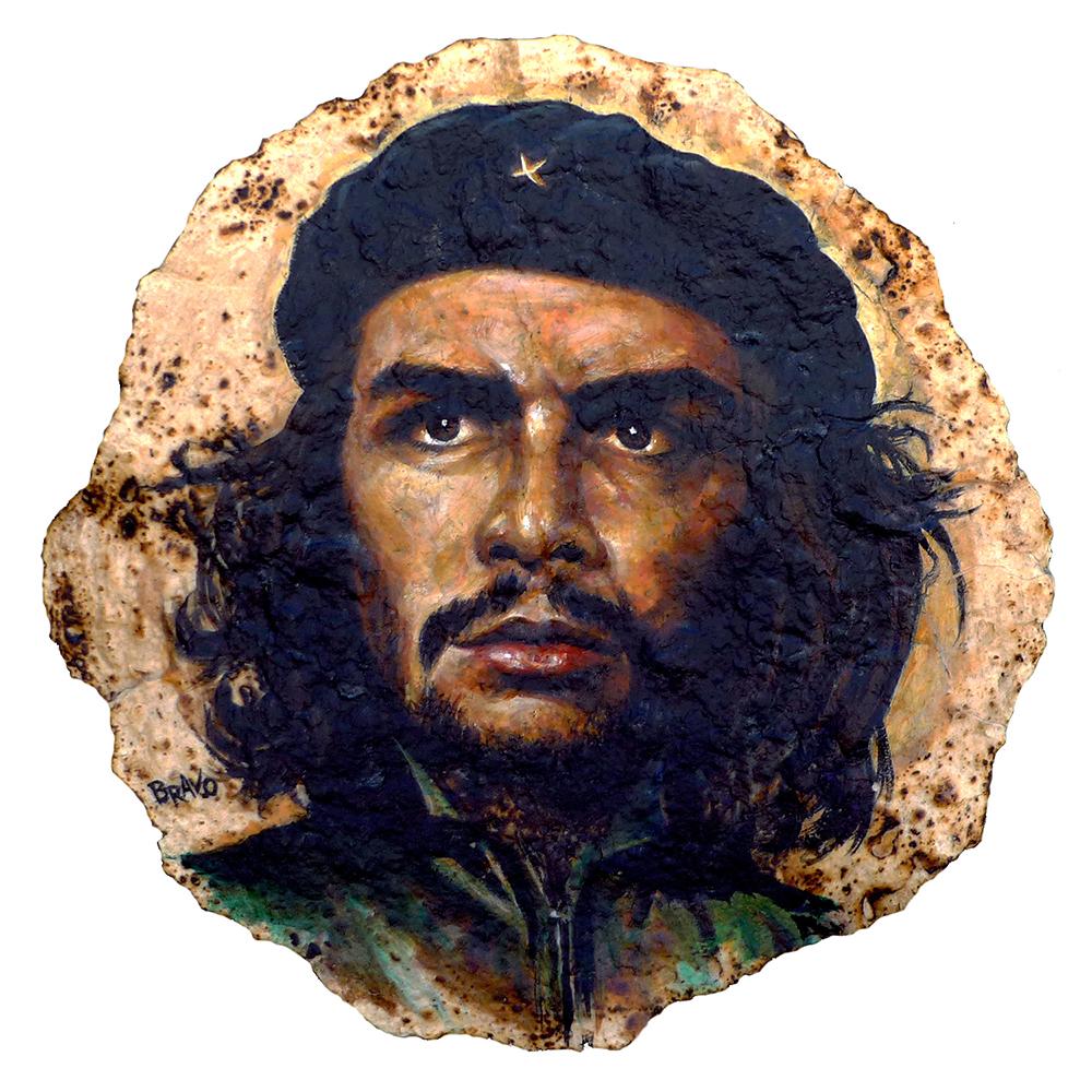 Tortilla-Art-Painting-Che-Guevara-Portrait-Joe-Bravo-wb