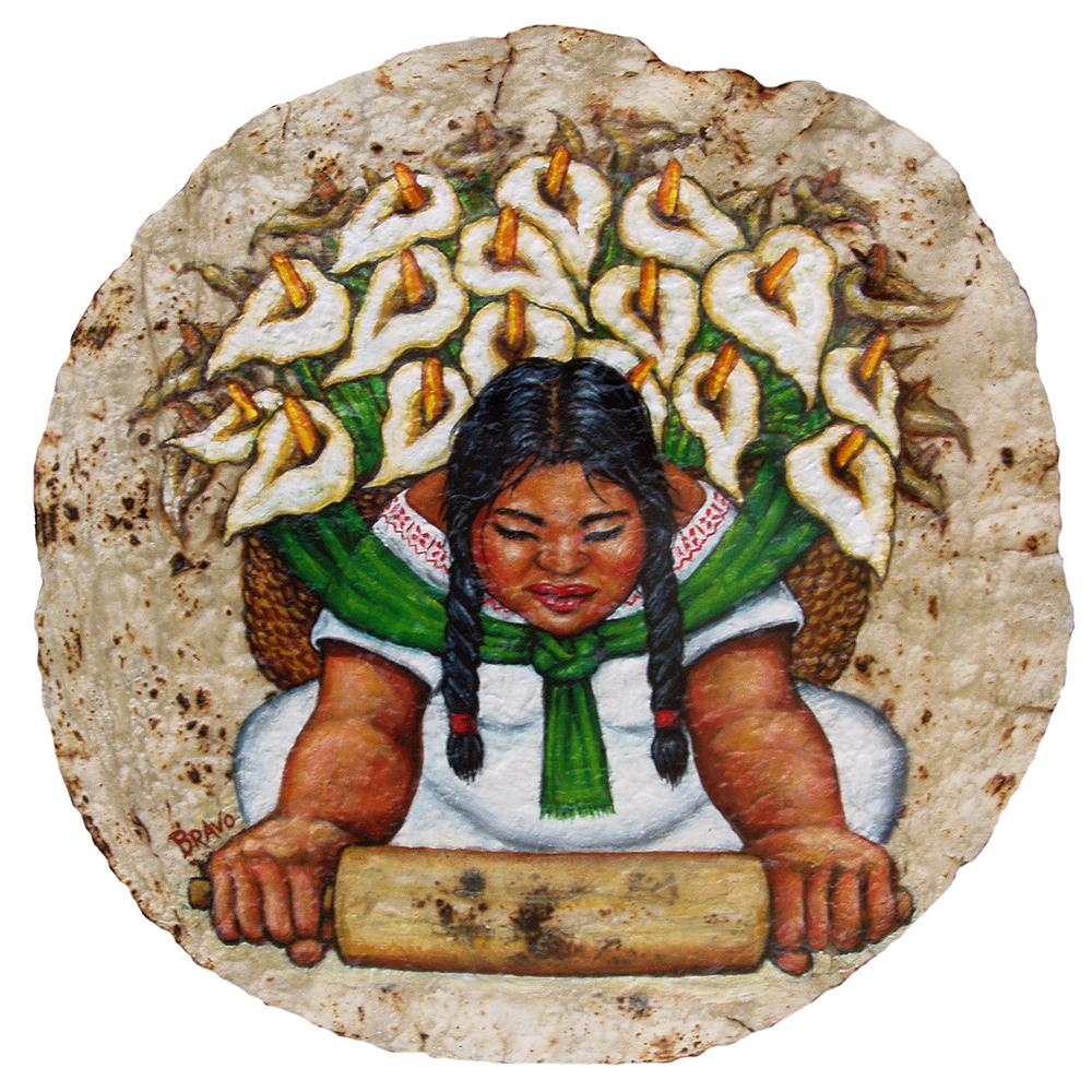 Tortilla Art: Tortillera by Joe Bravo